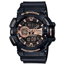 Casio G-Shock Black / Rose Gold Analogue/Digital Mens Rotary Watch GA400GB-1A4