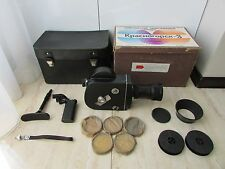SOVIET RUSSIAN 16mm MOVIE Camera Krasnogorsk-3 + Kit ! ORIGINAL BOX ! FULL KIT !