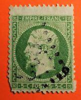 FRANCE : EMPIRE DENTELE N° 20 (TB-1233-2) Piq. Décalé haut OBLITERATION LGC