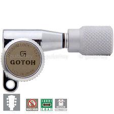 NEW Gotoh SG360 MGT Locking Tuners L3+R3 Keys w/ KURNLED Buttons 3x3 - CHROME