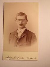 Grimma-Hans Schindler? como hombre joven con Zwicker-Johannes?/CDV