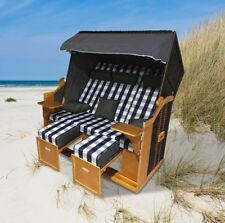 "Home>it® Premium Rattan Strandkorb ""Ostsee-XXL"" 158 cm 3-Sitzer mit Kissen"