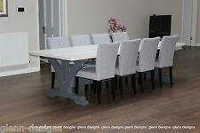 8,10,12 seater Large King-Post Dining Table, Tinted Paintwork,