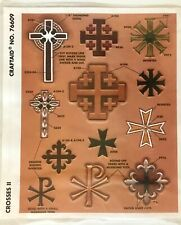 Tandy Leather Factory Religious Crosses II Pattern Stencil NEW Craftaid No76609