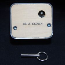 ''BE A CLOWN'' NARCO CLEAR SEE-THRU MUSIC BOX MOVEMENT WITH KEY