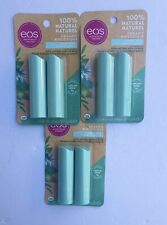 New EOS Sweet Mint 3 -Pack Lip Balm Hydrating Care Stick Natural & Organic