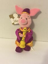 Piglet Plush Disney Store Winnie The Pooh Stuffed Instrument Purple Outfit