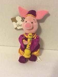 Piglet Plush Disney Store Winnie The Pooh Stuffed Instrument Purple Outfit