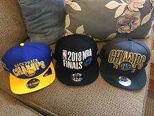 Golden State Warriors New Era 2018 NBA CHAMPIONS Snapback Cap/hat Lot Of 3