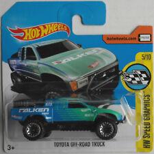 "Hot Wheels - Toyota Off-Road Truck blau/grün ""Falken"" Neu/OVP"