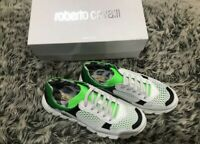 New Roberto Cavalli Trainers Size 5/38 New Rrp£170 Neon Green And White lace up