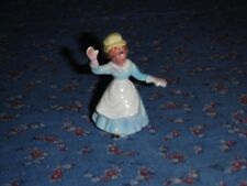 "Vintage Mini Bone China Old Woman Who Lives in the Shoe   About 1 7/8"" high"