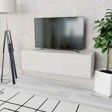 vidaXL TV Cabinet Chipboard 120x40x34cm High Gloss White Storage Unit Stand