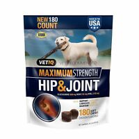VetIQ Dogs Max Strength Hip & Joint Glucosamine plus MSM 180 counts