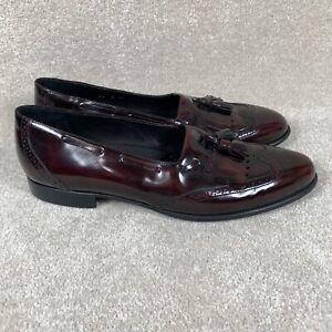 Johnston Murphy Men's 12 N Burgundy Tassel Wingtip Loafers