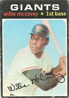 1971 Topps Baseball Set Break Willie McCovey San Francisco Giants #50 VG