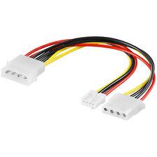 "0,13 m PC Stromkabel Y-Adapterkabel IDE-Stecker> 3,5"" Floppy + IDE-Buchse 7768"