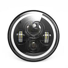 "2PCS Round LED Headlights 7"" Car Round LED Headlights Day Running Light White"