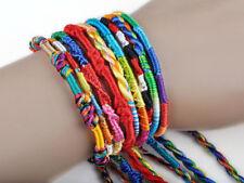 Lot 10pcs Women Thread Woven Friendship Cord Hippie Anklet Bracelet DIY Gifts