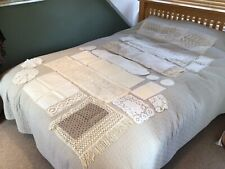 More details for vintage table linens batten lace runners placemats doilies chair arm protectors