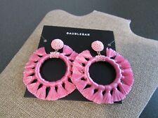 Baublebar Adrita Hoop Pink pierced earring NWT