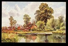Tuck art signed Bridgeman the Avon at Fordingbridge Hampshire UK postcard