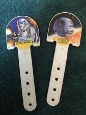 2 X Spanish Star Wars Ice Lolly Plastic Sticks Rare Starwars