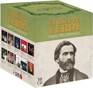 GIUSEPPE VERDI Great Recordings - CD - 30 Disc Boxset New Sealed