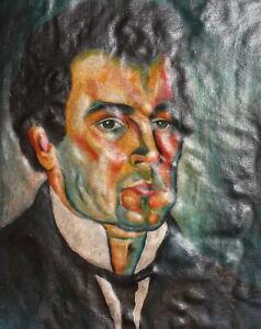 Kazimir Malevich, Vintage oil painting, self portrait reproduction