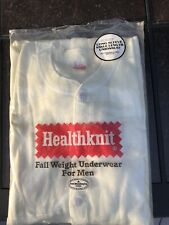 Vintage Healthknit Fall Weight Union Suit Long Sleeve Ankle Length M 38-40 Ivory