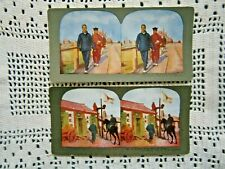 Russo-Japan War 2 Stereoview Cards in Dalny (Russian Port)
