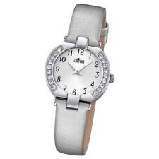 Relojes de pulsera baterías de tela/cuero para mujer