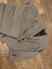 ann taylor 2 Piece Suit Gray/black 8P Pants 8P Curvy