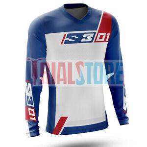 S3 01 Trials Riding Shirt Blue/White -Trials -Offroad -Adventure FreePP