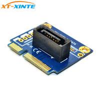 mSATA to 7Pin SATA Converter Card PCI-e Extension Adapter Half-size for HDD SSD