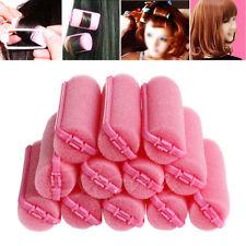 HOT 12Pcs Magic Sponge Foam Cushion Hair Styling Rollers Curlers Twist Tool