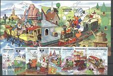 Walt Disney, Eisenbahn - Dominica - 1066-1073, Bl.124-125 ** MNH 1987