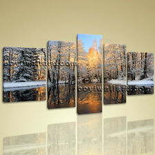Large Wall Art On Canvas Hd Print Landscape Painting Contemporary Autumn Sunset
