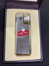 New in box Lucienne Piezo Electronic Butane Lighter, Carlton Cigarette Ad