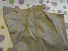NIKE TEAM Men's Pants Khaki Pleated Front UNHEMMED Size- (36-37 x up to 36) NWOT