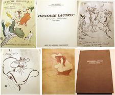 LAUTREC/LITHOGRAPHIES/POINTES SECHES/J.ADHEMAR/ ARTS ET METIERS GRAPHIQUES/1965