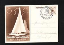 Germany 1936 Olympics Kiel Postal Card Berlin Swim Stadium Special Cancel A