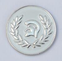 White Trojan Helmet Ska Reggae Soul Enamel  Pin Badge