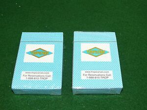 NEW 2 DECKS OF TROPICANA LAS VEGAS PLAYING CARDS FACTORY SEALED