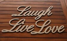3 Big Wooden Words Love Live & Laugh. Ready 2 Decorate