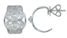 Silver Filigree Hoop Earring S.Michael Designs Artisan Crafted