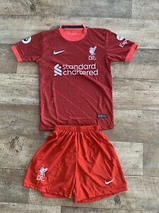 LFC Liverpool Kinder Fussball Trikot Set 2021/22 11 Salah Grösse 152