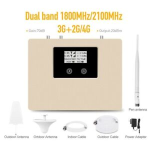 ATNJ Dual Band 1800/2100MHz Signal Booster 2G 3G 4G Repeater cellular amplifier