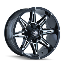 Mayhem Rampage 8090 Black and Milled 20x9 18mm 5x150 5x139.7 Dodge Ram Tundra