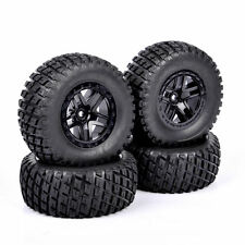 4PCS  RC 1:10 Short Course Truck 12mm Hex Tires&Wheel Rim For TRAXXAS SlASH